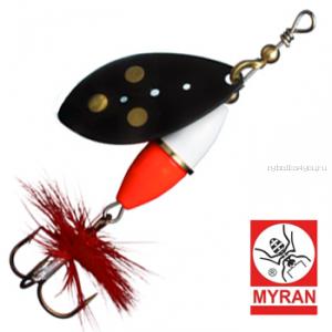 Блесна вертушка Myran Wipp Hot 3гр / цвет: Svart 6540-09