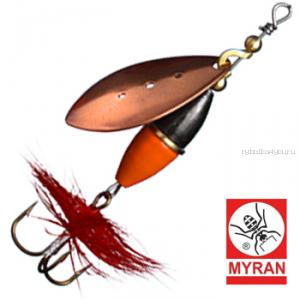 Блесна вертушка Myran Wipp Orange Svart 3гр / цвет: Koppar 6440-03
