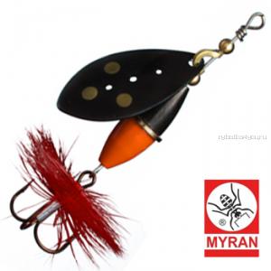 Блесна вертушка Myran Wipp Orange Svart 7гр / цвет: Svart 6442-09