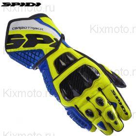 Перчатки Spidi Carbo Track Replica, Желто-синие