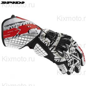 Перчатки Spidi Carbo Track Replica, Бело-красные