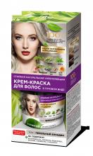 Стойкая натуральная укрепляющая крем-краска для волос «Народные рецепты» Тон Пепельный блондин 120 мл