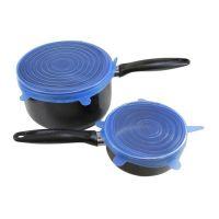 Набор силиконовых крышек Silicone Sealing Lids, 6 шт, цвет синий (3)