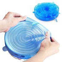 Набор силиконовых крышек Silicone Sealing Lids, 6 шт, цвет синий (1)