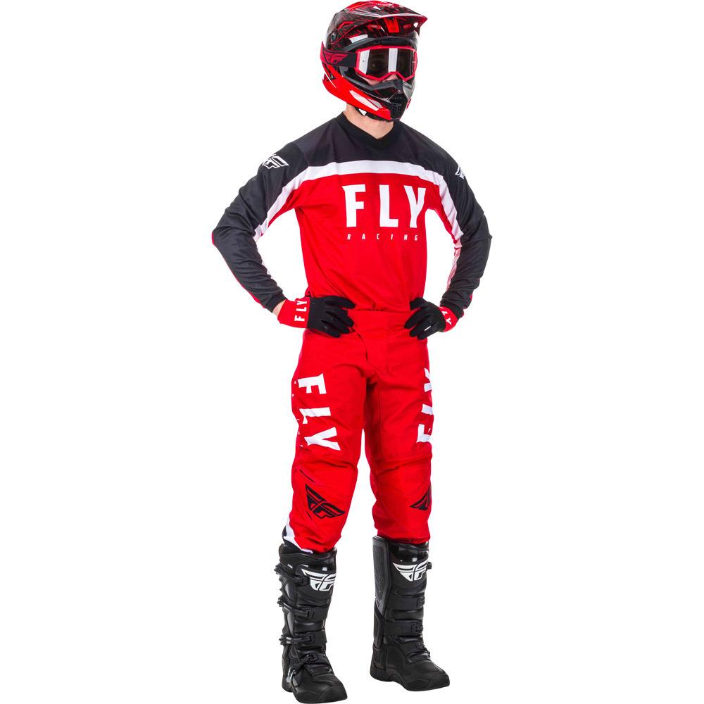 Fly - 2020 F-16 Red/Black/White комплект штаны и джерси, красно-черно-белый