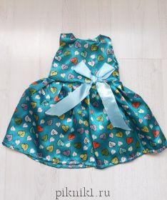 Платье с листочками