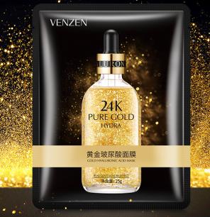 Лифтинг-маска Venzen от «BIOAQUA» 24к Pure Gold.(16428)