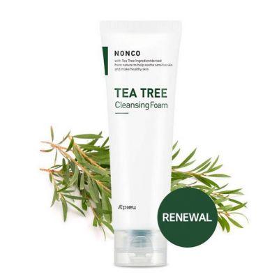 Пенка для умывания для чувствительной кожи с маслом чайного дерева A'PIEU NONCO TEA TREE CLEANSING FOAM 130мл