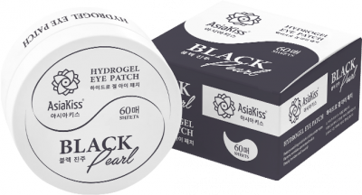 AsiaKiss Hydrogel Eye Patch Black Pearl Патчи гидрогелевые для глаз 60 шт