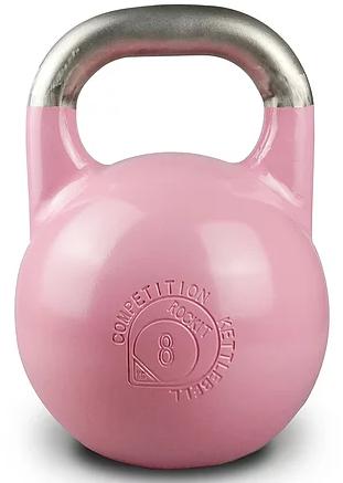 Соревновательная гиря Rockit 8 кг, цвет розовый