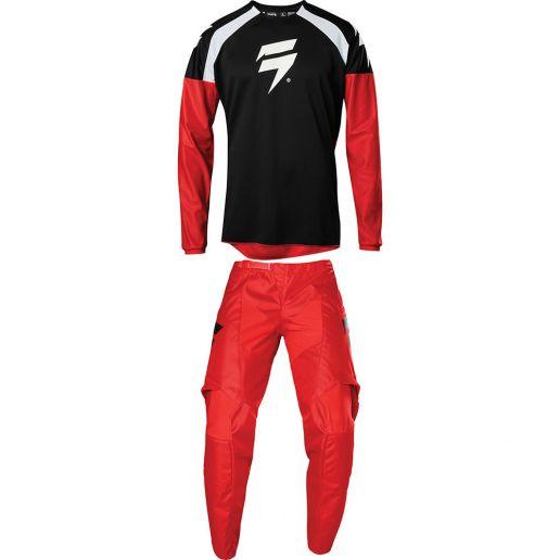 Shift - 2020 Whit3 Label Race 1 Red комплект джерси и штаны, красные