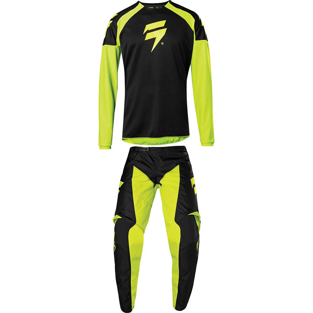 Shift - 2020 Whit3 Label Race 1 Flow Yellow комплект джерси и штаны, желтый