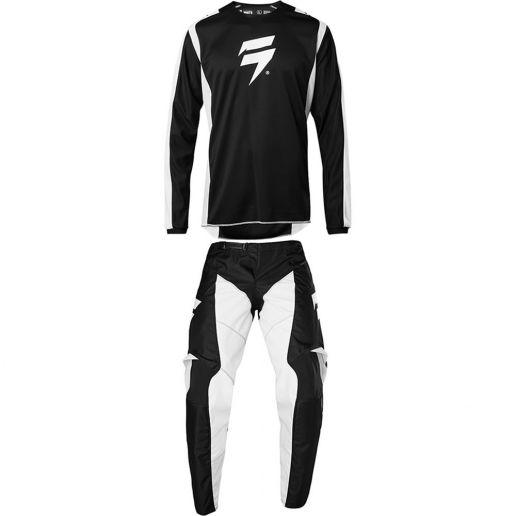 Shift - 2020 Whit3 Label Race 2 Black/White комплект джерси и штаны, черно-белый