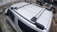 Багажник на рейлинги Suzuki Jimny, FicoPro R-44, серебристый, крыловидные аэродуги