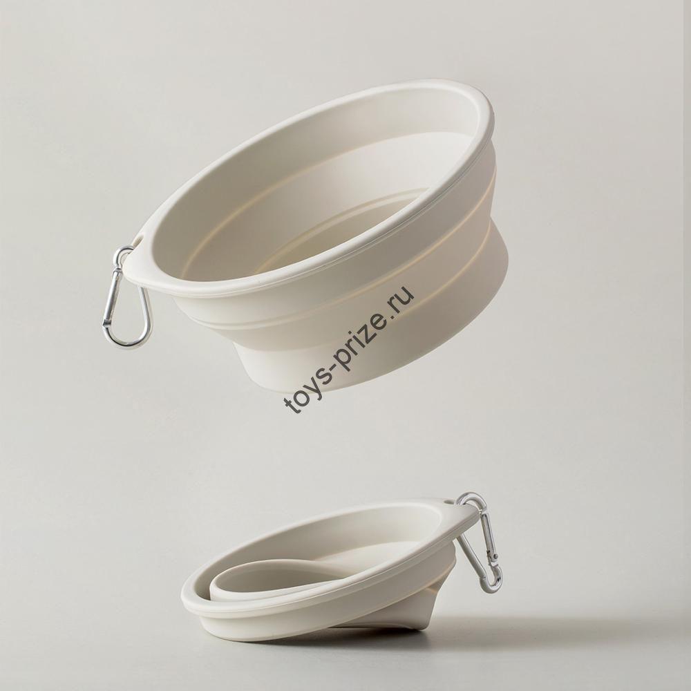 Силиконовая складная чаша для животных Pet Silicone Folding Bowl Big