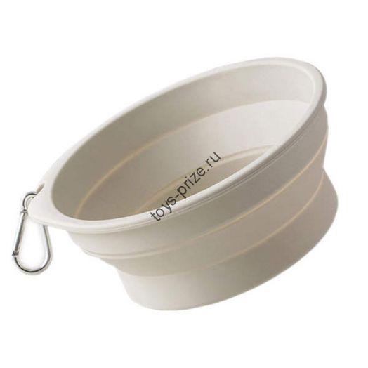 Силиконовая складная чаша для животных Pet Silicone Folding Bowl Small
