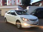 Прокат Hyundai Solaris 2016г. белого цвета в Москве с доставкой к вашему дому.