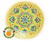 Тарелка желтая