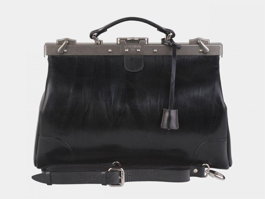 Кожаный саквояж Alexander-TS «SW16 Black»