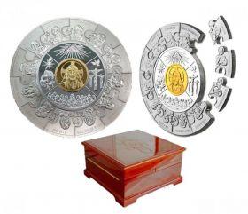 12 Апостолов  100 долларов Либерия 2008 1 кг.серебро