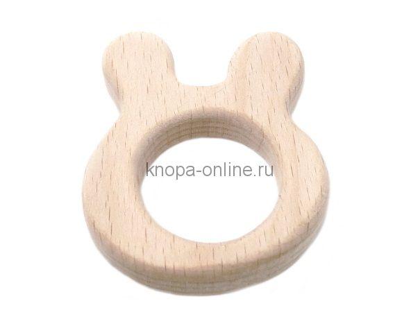 Деревянный грызунок - Зайка
