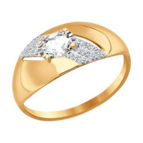 Кольцо из золота с фианитами 016733 SOKOLOV