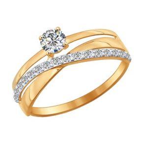 Кольцо из золота с фианитами 016898 SOKOLOV