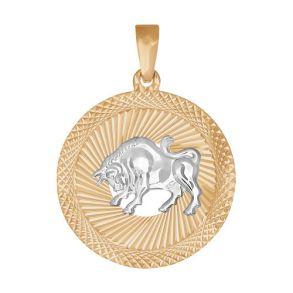 Подвеска «Знак зодиака Телец» с алмазной гранью 032326 SOKOLOV