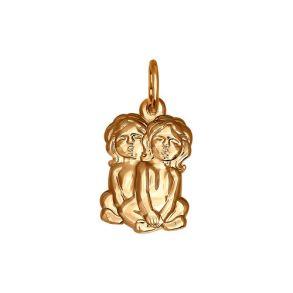 034090 Подвеска знак зодиака близнецы из золота SOKOLOV