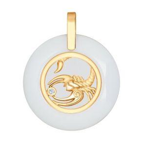 Керамическая подвеска «Знак Зодиака Скорпион» 034986 SOKOLOV