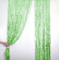 Новогодний дождик Штора, 2 м х 1 м, цвет зеленый (2)