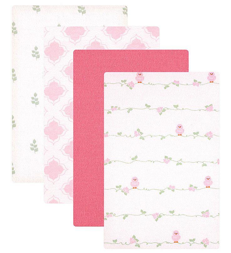 Пеленки для девочек Luvable Friends 4 шт 40146