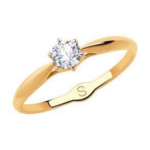 Кольцо из золота с фианитом 018177 SOKOLOV