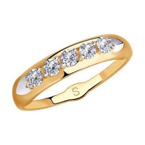 Кольцо из золота с фианитами 018241 SOKOLOV