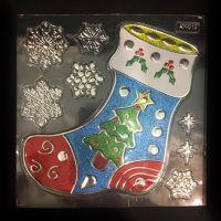 Набор новогодних наклеек Room Decor Волшебный носок, 21х15 см (1)