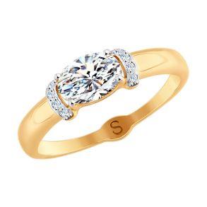 Кольцо из золота со Swarovski Zirconia 81010409 SOKOLOV