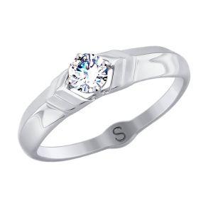 Кольцо из белого золота со Swarovski Zirconia 81010375 SOKOLOV