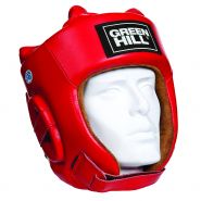 Боксерский шлем Green Hill Five Star одобренный AIBA HGF-4012 Красный
