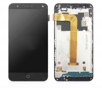 LCD (Дисплей) Alcatel 5051D POP 4 (в сборе с тачскрином) (в раме) (black) Оригинал