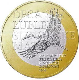 100 лет воссоединения Словении 3 евро Словения 2019