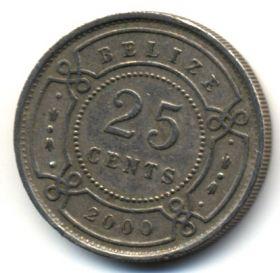 Белиз 25 центов 2000