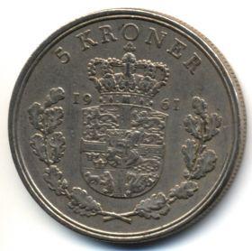 Дания 5 крон 1961