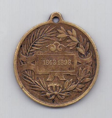 медаль 1898 года R!!! Австрия Венгрия