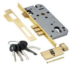 Замок с секр. цилиндром Adden Bau Lock 4585 5-60B D Gold, Золото, Ключ-Вертушка,Перфорированный Ключ