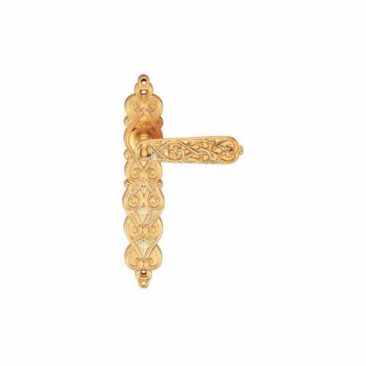 Ручка Дверная На Планке Archie, Arabesco S. Gold (Ps), Матовое ЗолотоПроходная