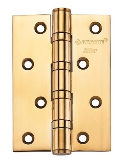 Петля Дверная Универс., Archie Sillur 100Мм*70Мм*3 Мм., 4 Подш., латунь, цвет золото
