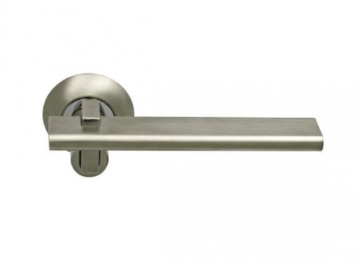 Ручка Дверная Фалевая На Круглой Накладке, Archie, Sillur 133 S.Chrome-P.Chrome, Хром Матовый/Хром