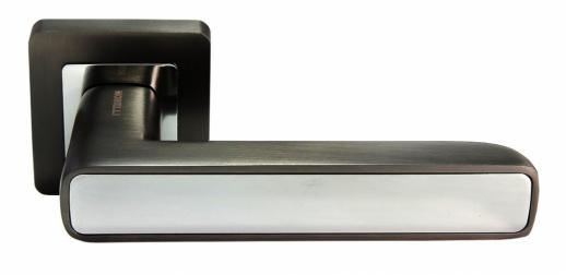 Дверные ручки MORELLI DIY MH-44 GR-CP-S55 графит/полированный хром