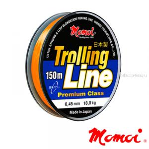 Леска монофильная Momoi Trolling Line 150 м / цвет: оранжевый