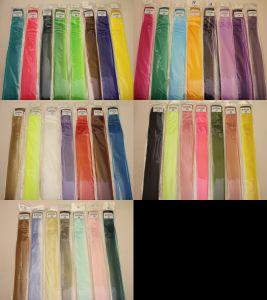 Прядь волос на заколке(искусственные), длина 50см, ширина 3,2см, цвет №02 розово-персиковый (1уп = 5шт)